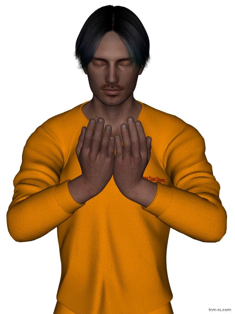 Zhong yuan qigong 1.1.2 - cvičení Dítě se modlí k Buddhovi