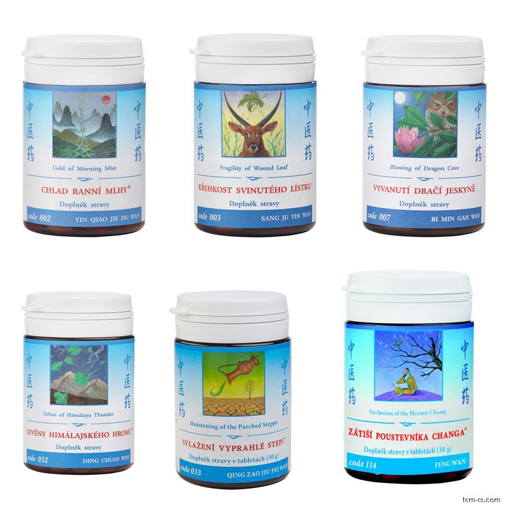 Alergie na pyly - doporučované produkty TCM Herbs