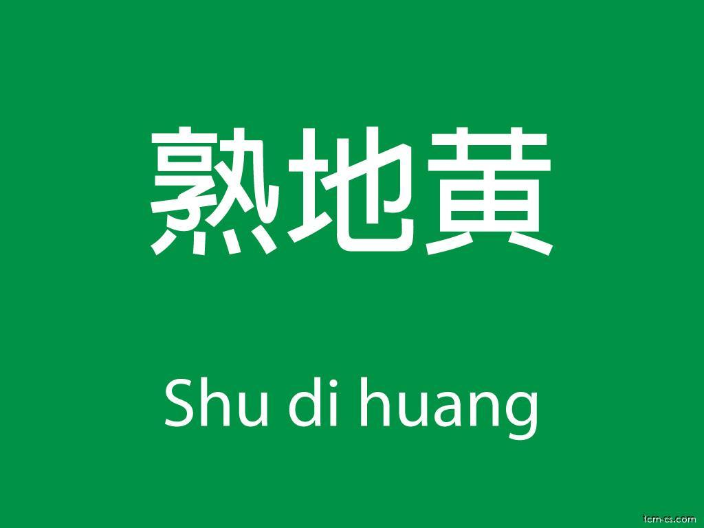 Čínské byliny (Shu di huang)