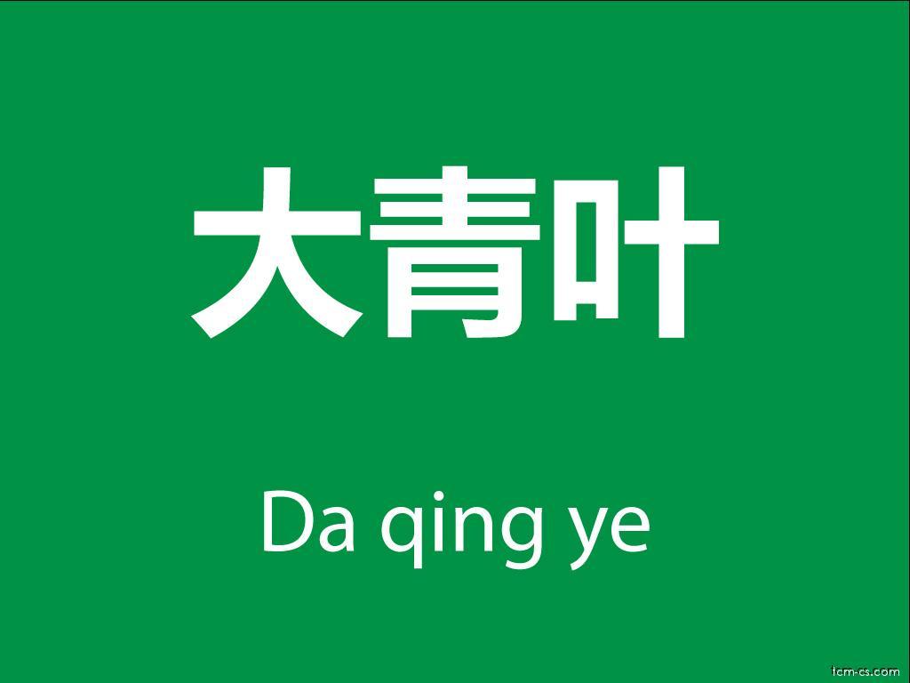 Čínské byliny (Da qing ye)
