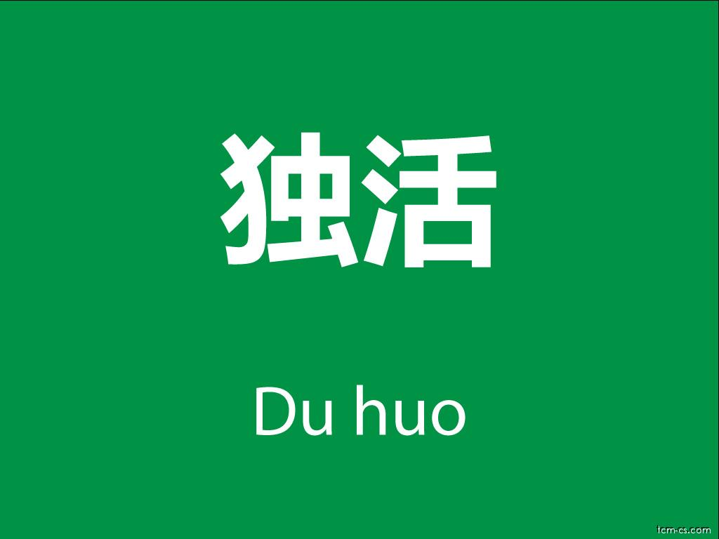 Čínské byliny (Du huo)