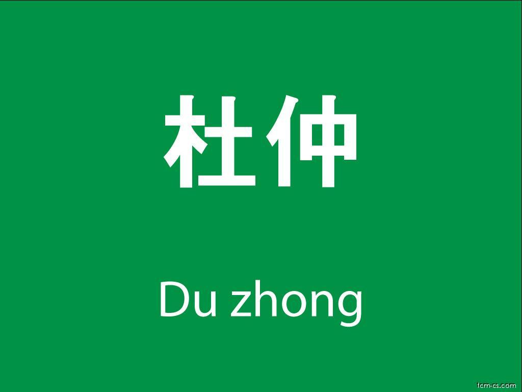 Čínské byliny (Du zhong)