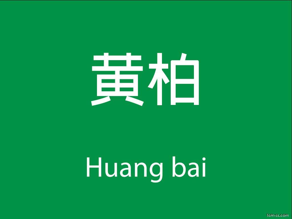 Čínské byliny (Huang bai)