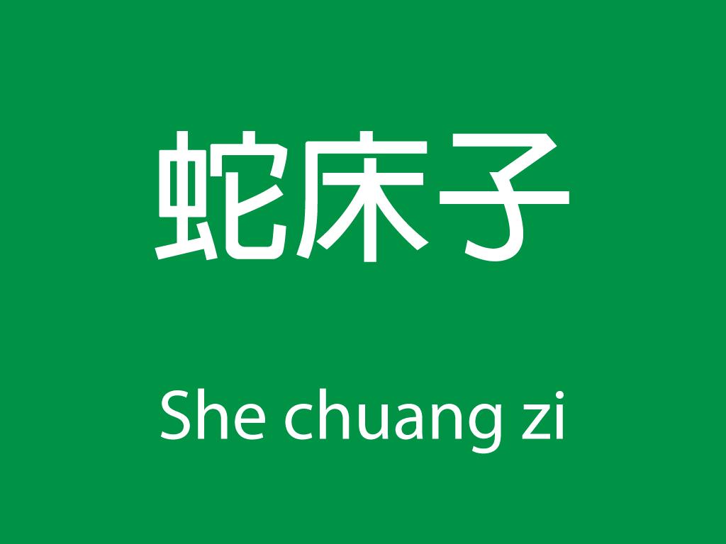 Čínské byliny (She chuang zi)