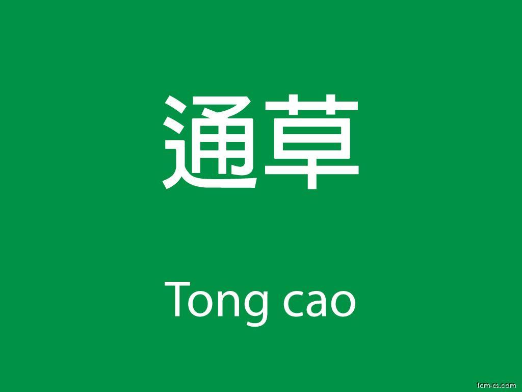 Čínské byliny (Tong cao)