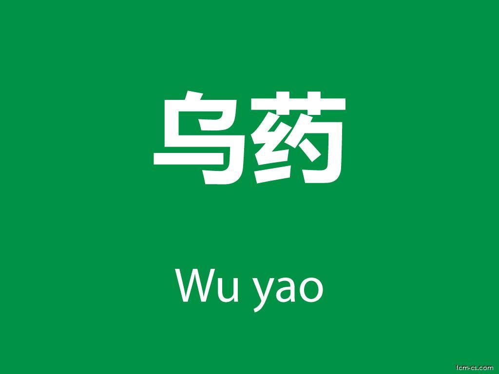 Čínské byliny (Wu yao)