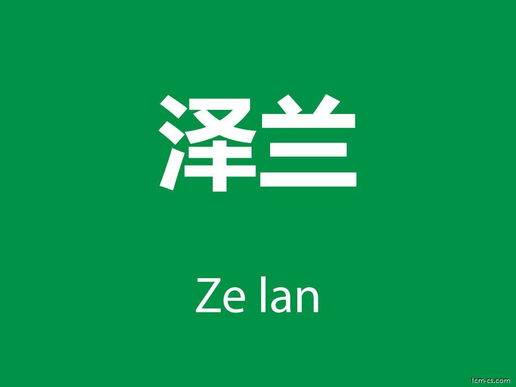 Čínské byliny (Ze lan)
