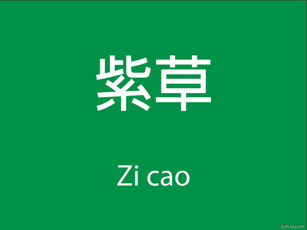 Čínské byliny (Zi cao)