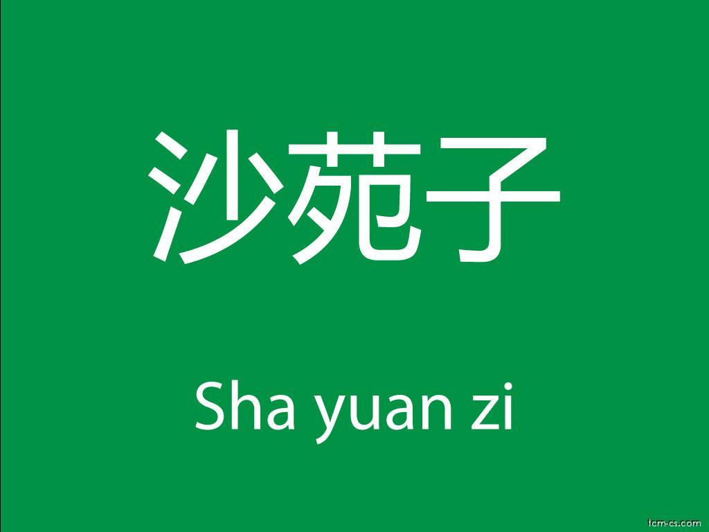 Čínské byliny (Sha yuan zi)